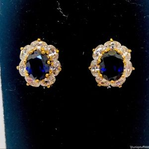 PAJ BB Blue Saphire CZ 925 Stud Earrings
